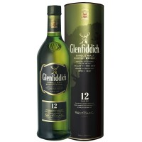 Віскі GLENFIDDICH 12 years Single Malt в сув.коробці 0,7л